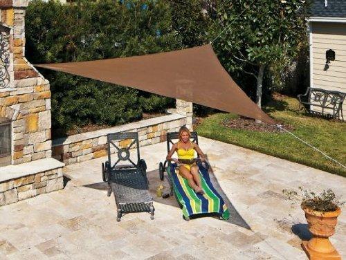 Coolaroo 396,24 cm/3,9 m Sombra vela merkel artisanti menarquia Mocha triángulo sombra