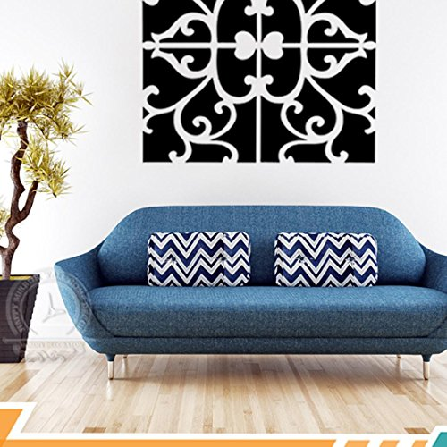 Gillberry 32pcs DIY 3D Acrylic Mirror Decal Mural Wall Sticker Home Decor Removable (Black)