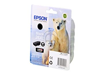 Epson Expression Premium XP-800 (26XL / C 13 T 26214010) - original - Ink cartridge black - 500 Pages - 12,2ml