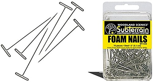 "Woodland Scenics Foam Nails, 2"" (75) WOOST1432"