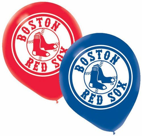 Boston Red Sox Latex Balloon (6 Pack) - 1
