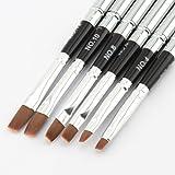 MAKARTT® Detachable Uv Gel Brush Set Acrylic Nail Art Design Builder DIY Flat Brush Pen Set