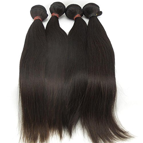 Lanova-Beauty-Womens-4PcsLot-6A-Human-Hair-Extensions-Peruvian-Silky-Straight-Hair-Weaves-Size10-28