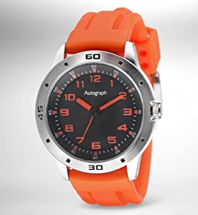 Autograph Round Face Analogue Sports Watch