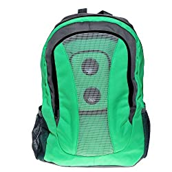 Style Pale-green and Gray Mp3 Boom Speaker Backpack with a Black Battery Cover from Shenzhen Lotmusic Technology Co.,Ltd