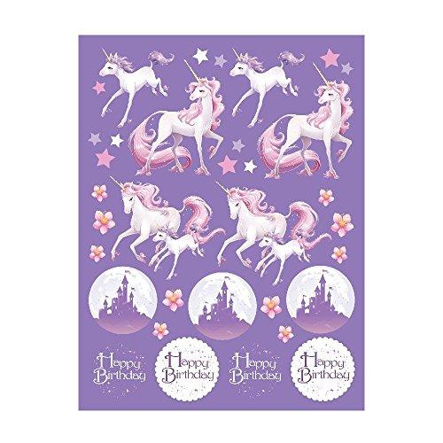 Unicorn Fantasy Sticker Favors (4 Sheets)