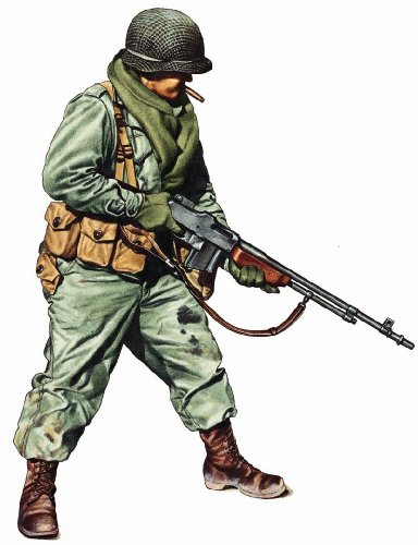 "Military Uniforms Of Wwii Wall Decals - Private 1St Infantry Div 24"" Removable Wall Graphic front-917052"