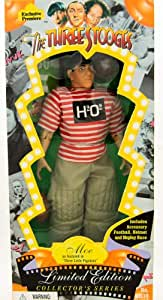 The Three Stooges - Moe - Limited Edition Collector Series Figure - As Seen in Three Little Pigskins - 1996 - Collectible