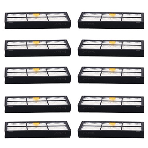 I-clean Replacement Hepa Filters for iRobot Roomba 880 870 800 980 Robotic Vacuum Cleaner Parts and Accessories [10 Packs] (I Robot Roomba Accessories compare prices)