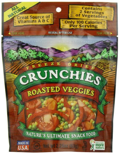 Crunchies Freeze-Dried Snack, Roasted Veggies,