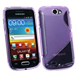 SAMSUNG I8150 GALAXY W WAVE PATTERN TPU GEL SKIN COVER/CASE PURPLE BY KIT ME OUT UK