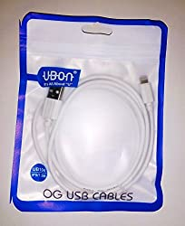 UBON iPhone 5,5C,5S,6,6S,6Plus etc. Data/Charging Cable High Quality + SAME DAY SHIPMENT USING AMAZON TRANSPORT SERVICE