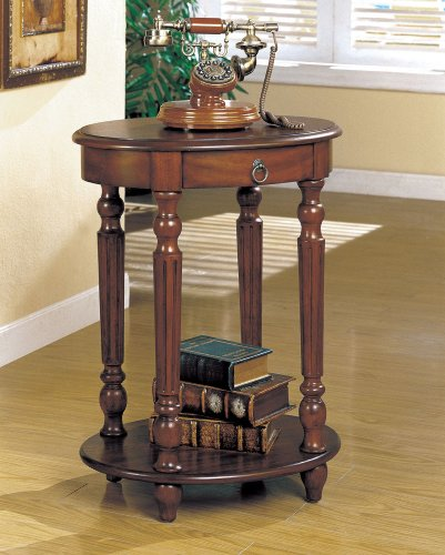 Telephone Side Table In Cherry Wood Finish front-866312