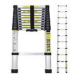 2.6M/3.2M/3.8M Multi-Purpose Aluminium Telescopic Extendable Ladder(3.8M)
