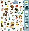 Djeco - Stickers - Petite maison de couture
