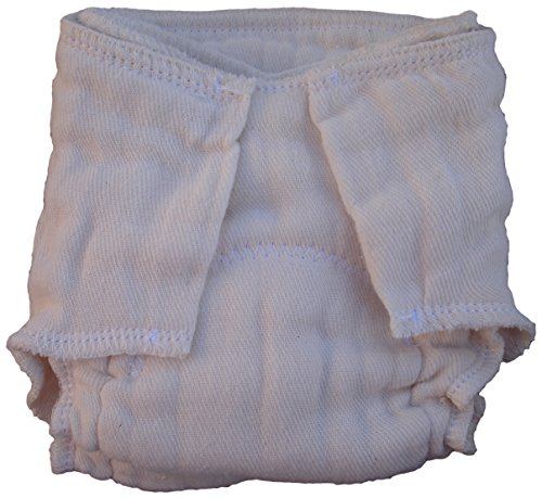 Little Bear Bums Pre-Fitted Cloth Diaper, NB/Preemie, Unbleached