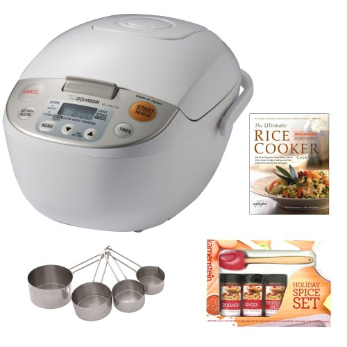 Zojirushi Nl-Aac10 Micom Rice Cooker & Warmer, 5.5 Cups/1.0-Liter Bundle front-511318