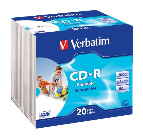 verbatim-lot-de-20-cd-r-imprimable-700-mo-memorex-52x-boitiers-slim