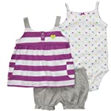 Carters Girls Newborn-12 Months 3 Piece Butterfly Dress Set