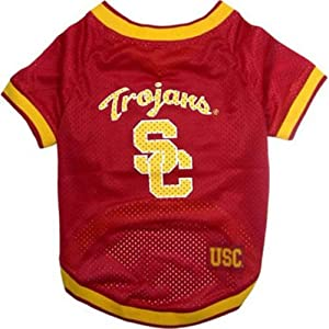 Dog Supplies USC Trojans Jersey Large by Mirage Pet