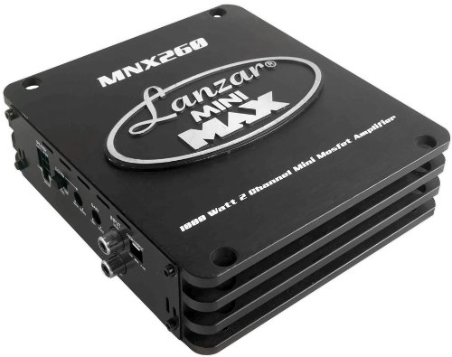 Pyle Lanzar Mnx260 1000 Watt 2 Channel Mini Mosfet Amplifier