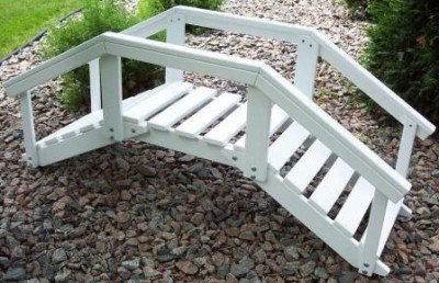 Prairie Leisure Decorative Garden Bridge with posts & rails - Black
