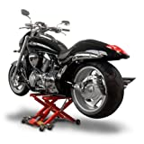 Motorcycle jack ConStands Mid-Lift XL red for Harley Davidson Night Train (FXSTB), Night-Rod/ Special (VRSCDX)/(VRSCD), Road King (FLHR/I), Road King Classic/ Custom (FLHRC/I)/(FLHRSI)