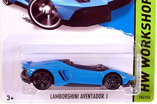 2014 Hot Wheels Hw Workshop Lamborghini Aventador J - Blue