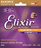 Elixir 16002 Acoustic Guitar Saiten 6 Acoustic Phosphor Bronze Nanoweb Coating Extra Light