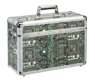Aluminium Pilotenkoffer mit Laptopfach im trendigen