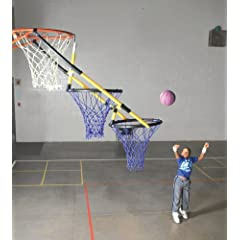 Sportime TierDrop Two Hoop Cascading Basketball Goal Attachment by Sportime