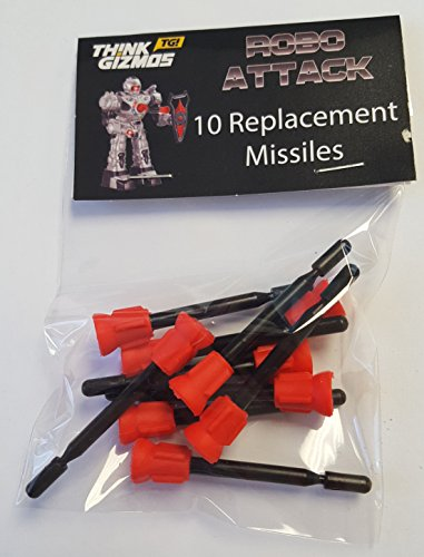 RoboAttack-by-ThinkGizmos-Remote-Control-Robot-Spare-Missiles-Only-pack-of-10