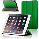 "ForeFront Cases® New Apple iPad Mini 7.9"" with Retina Display Leather Case Cover / Stand with Magnetic Auto Sleep Wake Function For New 2013 Apple iPad WiFi 16Gb, 32Gb, 64Gb, 128Gb - GREEN"