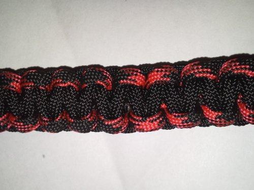"""Para-Cord Survival Bracelet """"Black"""" 9 Inch front-57282"""