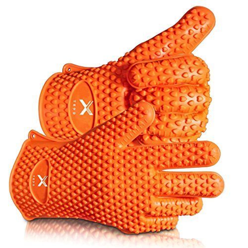 Learn More About TEDO Silicone Heat Resistant BBQ Gloves Color Orange