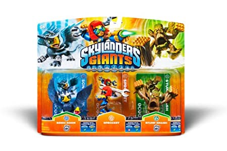 Activision Skylanders Giants 3 Pack Sonic Boom Sprocket Stump Smash