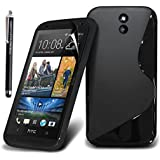 GSDSTYLEYOURMOBILE {TM} HTC DESIRE 610 SILICONE SILIKON GEL CASE SKIN TPU H�lle COVER + STYLUS