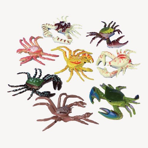 Plastic Mini Crabs : package of 12