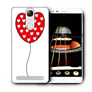 Snoogg Red Heart Balloons Printed Protective Phone Back Case Cover For Lenovo K5 Note