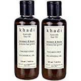 Khadi Natural Ayurvedic Hair Growth Oil - Rosemary & Henna (Paraben Free) Hair Oil (420 Ml) Brandznext KN2005