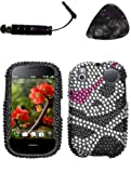 Mobile accessories PALM Pre 2 Skull Full Diamond Bling Protector Cover Design Snap on Hard Shell Cover Protector Faceplate AND HiShop(TM) Stylus, Guitar Pick/Pry Tool