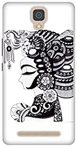 The Racoon Grip printed designer hard back mobile phone case cover for Gionee M5 Plus. (Lady)