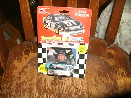 1994 NASCAR Racing Champions . . . Lake Speed #15 Quality Care Ford Thunderbird 1/64 Diecast . . . Includes Collectors Card and Display Stand
