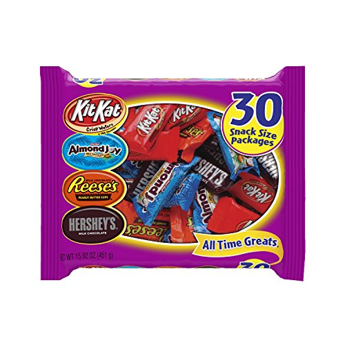Hershey's All Time Great Snack Size Assortment, 30-Piece Bag (15.92-Ounces) (Candy Bags For Chocolate compare prices)