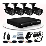 XVIM 4 Channel H.264 960H Security Surveillance System 4 Waterproof Cameras 700TVL Outdoor Day/Night IR Cut Night Vision Hard Drive Not Included
