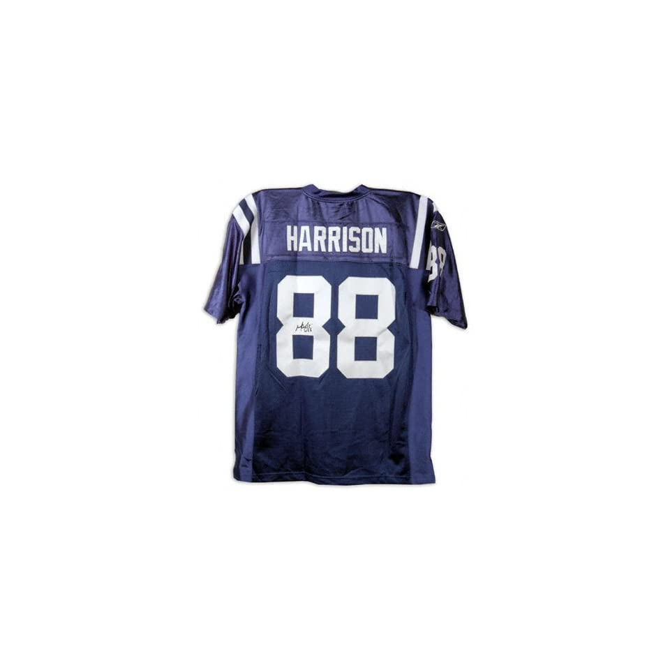 Marvin Harrison Indianapolis Colts Autographed Blue Jersey