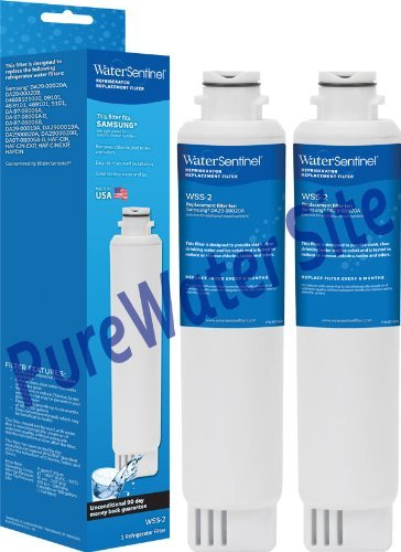 Water Sentinel WSS-2 Refrigerator Replacement Filter for Samsung DA29-00020A, DA29-00020B 2 Pack
