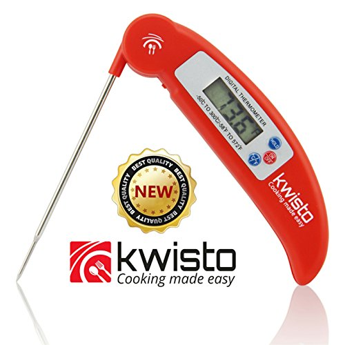 Best Instant Read Kitchen Thermometer - Digital Meat Thermometer Compact Accurate - Flexible Probe - Essential for All Food Meat BBQ Dairy Water Candy - Proven Cooking Thermometer - indoor outdoor use (Wood Food Dehydrator compare prices)