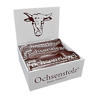 Ochsenriegel: 10er Pack 500g: Bio Proteinriegel Paleo Low Carb 100% Weiderind