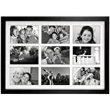 Malden 8071-946 4x6 -Inch Linear Wood Matted Collage Picture Frame (Black)